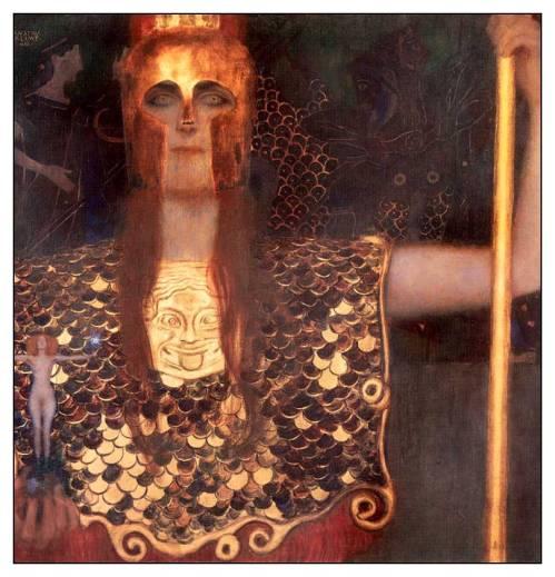 imagen: Istanbulsanatevi.com  artista: Gustav Klimt   Pallas Athena, 1898