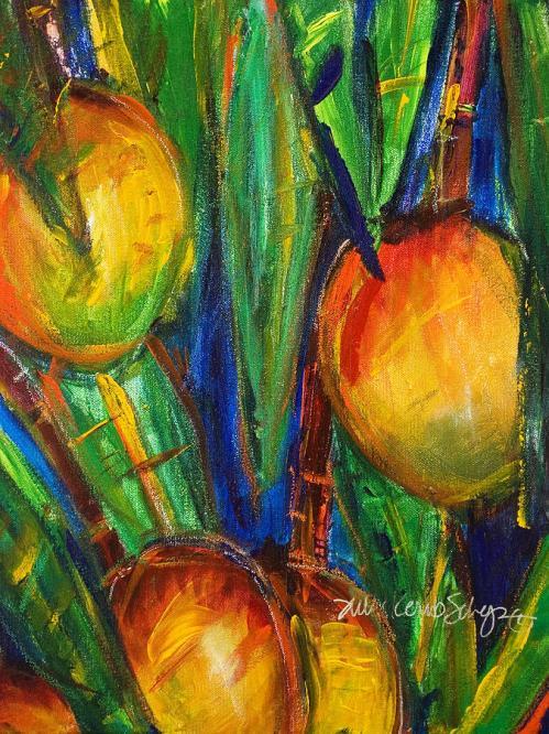 imagen: Fineartamerica.com artista: Julie Kerns Schaper   Mango Tree