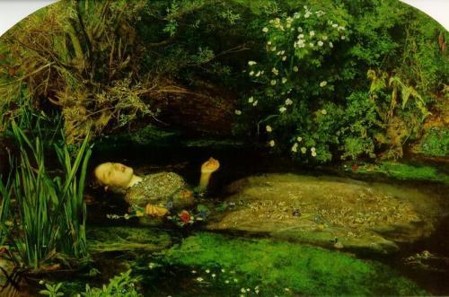 """imagen: Gabitogrupos.com   artista: Sir John Everett Millais   """"Ofelia"""", 1852"""