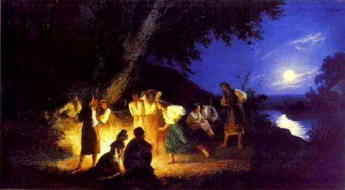 "imagen: Wikipedia.org   ""Noche en la víspera de Ivan Kupala"" (1892)   artista: Henryk Siemiradzki"
