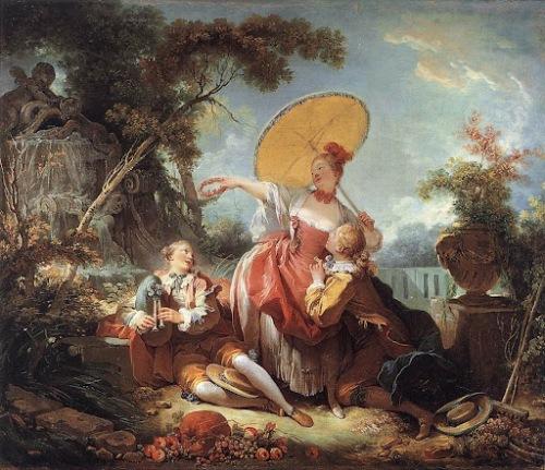 """""""El concierto musical"""" de Jean-Honoré Fragonard (1754). Imagen: Elcajondelospinceles.blogspot.com"""