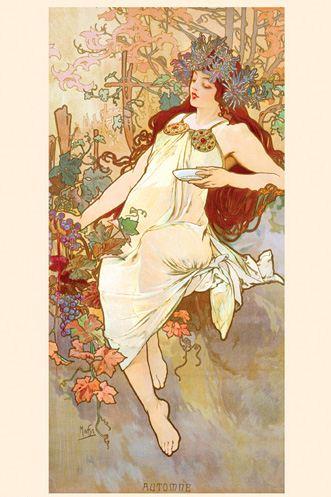 Imagen: Globalgallery.com   Artista: Alphonse Mucha,  Automne