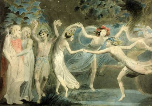 imagen: Tate.org.uk artista: William Blake  ''Oberon, Titania and Puck with Fairies Dancing'', circa 1786