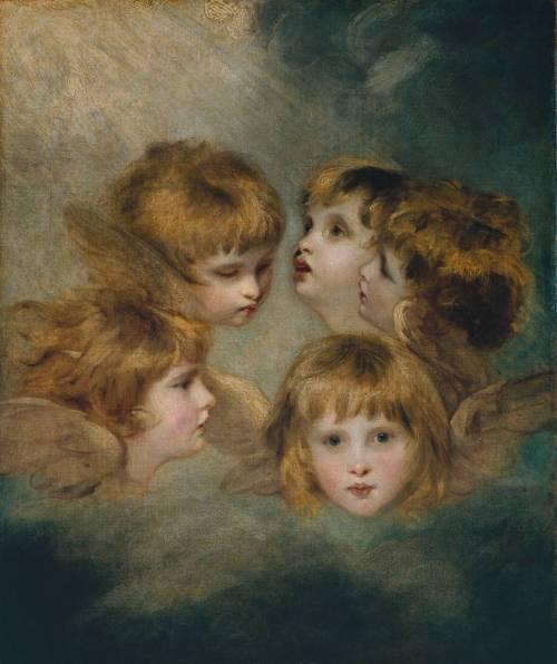 imagen: Tate.org.uk  artista: Sir Joshua Reynolds   ''A Child's Portrait in Different Views: 'Angel's Heads' ''