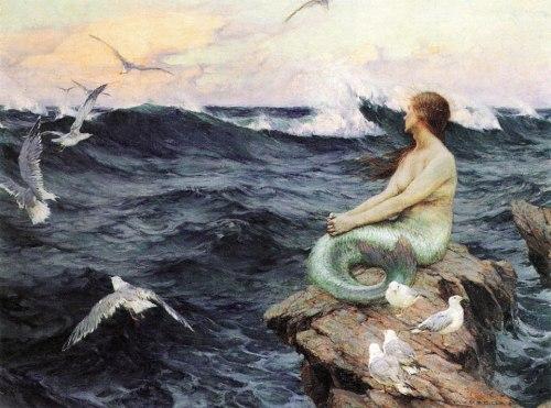 imagen: Arttower.ru  artista: Charles Murray Padday, ''A Mermaid''
