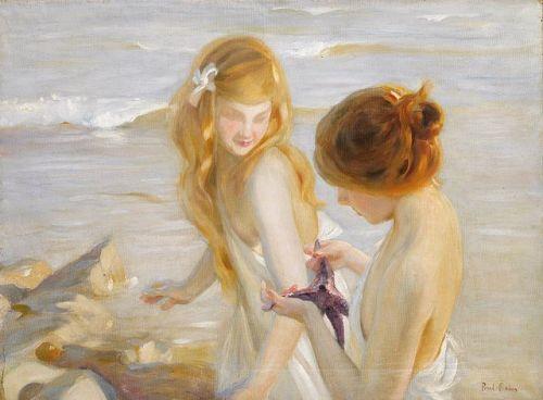 imagen: Commons.wikimedia.org artista: Paul Émile Chabas Deux jeunes Filles à l'Étoile de Mer