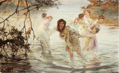 """imagen: Commons.wikimedia.org artista: Paul Émile Chabas """"Les nymphes de danse"""""""