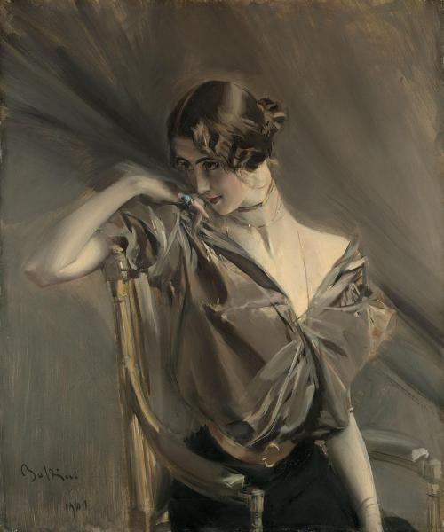 imagen: Wikipaintings.org  artista: Giovanni Boldini,   Cleo de Merode