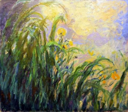 "imagen: Linternaute.com artista: Claude Monet,  ""Les iris jaunes"""