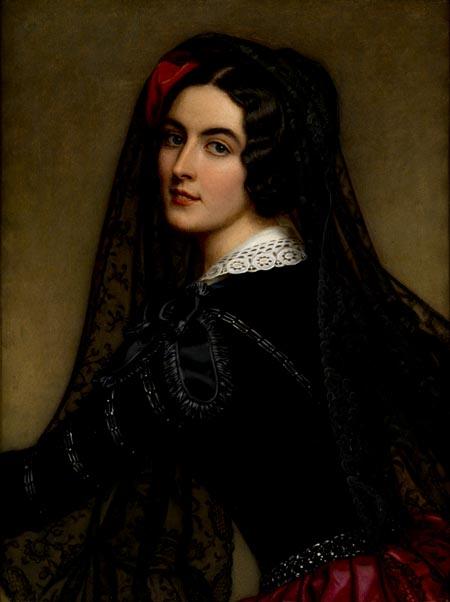 imagen: Portrait.gov.au  artista: Friedrich Durck,  Lola Montes  1848