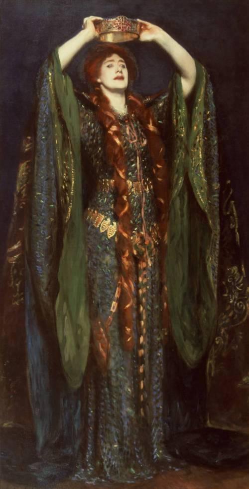 "imagen: Tate.org.uk artista: John Singer Sargent      ""Ellen Terry como Lady Macbeth"", 1889"