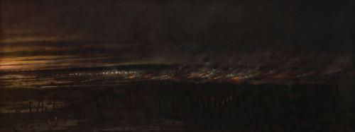 "imagen: Commons.wikimedia.org  artista: Cándido López ""Yataytí Corá, 2 de julio de 1866"""