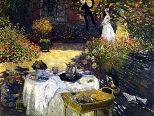 """""""El almuerzo"""" de Claude Monet - circa 1874 (Imagen: Wallcoo.net)"""