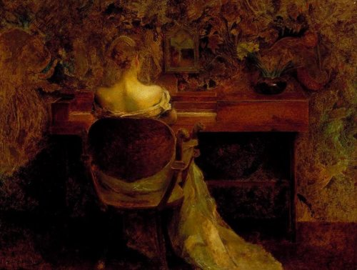 imagen: Wikipedia.org The Spinet artista: Thomas Wilmer Dewing, circa 1902
