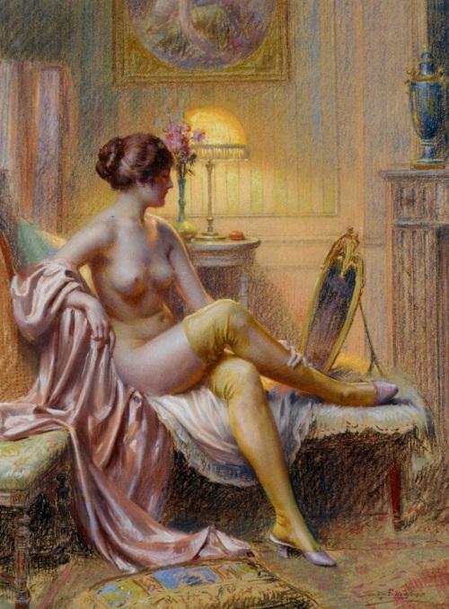 imagen: Artrenewal.org - La Toilette - artista: Delphin Enjolras (1857-1945)