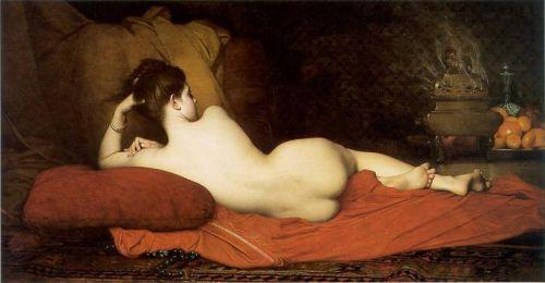"imagen: En.wikipedia.org  artista: Jules Joseph Lefebvre    ""Odalisca"", 1874"