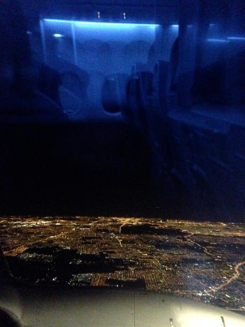 foto: Virginia Blanco  Buenos Aires nocturna desde el aire