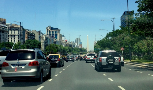 foto: Virginia Blanco  El Obelisco (Av. 9 de Julio)
