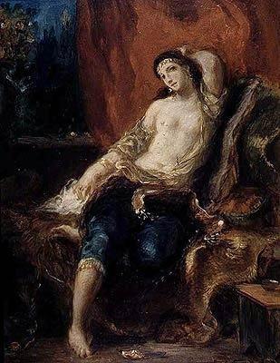 "imagen: Artble.com ""Odalisque"", artista: Eugene Delacroix"