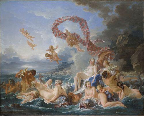 "imagen: Commons.wikimedia.org  artista: François Boucher    ""El triunfo de Venus"", 1740"