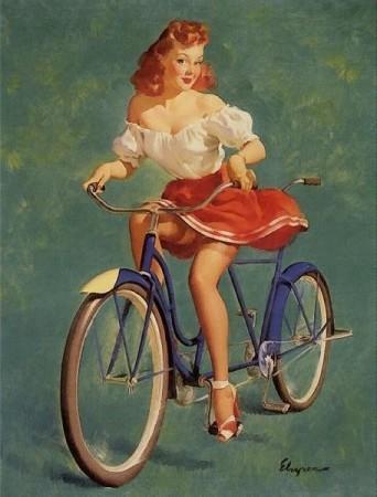 imagen: Gil-elvgren-pinups.tumblr.com This Bicycle's Built for Woo - Gil Elvgren 1947