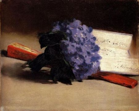 "imagen: Oilpaintings-sales.com ""Bouquet Of Violets""  artista: Edouard Manet  (1872)"