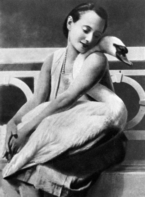 foto: Beautifulrus.com  Ana Pavlova y su cisne Jack, 1927