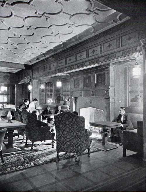 foto: Gjenvick.com  Smoking room del vapor Leviatán, 1923