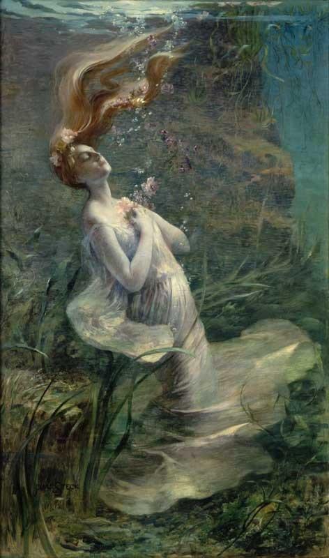 "imagen: Wikimedia.org  Artista: Paul Albert Steck ""Ofelia"", 1895"