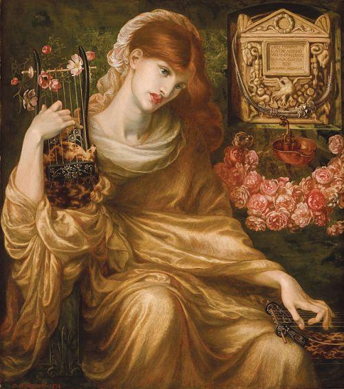 "imagen: En.wikipedia.org  artista: Dante Gabriel Rossetti  ""La viuda romana"" (Dis Manibus), 1873"