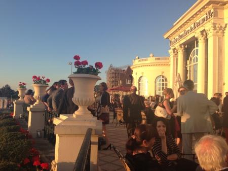 La recepción de gala en la terraza del Casino Barrière foto: Virginia Blanco
