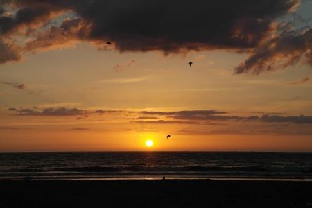 Atardecer en la playa, Deauville foto: Virginia Blanco