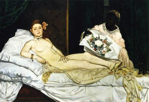"imagen: Wikiart.org artista: Édouard Manet ""Olympia"", 1863 (Musée d'Orsay)"